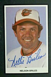 Nelson Briles (d.2005) Baltimore Orioles Autographed 3x5 Signed Photo Postcard