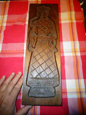 Ancien Moule à Pain d'Epice en Bois Sculpté Père Nöel Santa Klauss St Nicolas