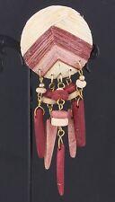 Dangle Brooch Fashion 4707B Various Shades Of Wood Type
