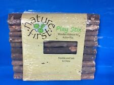 NATURE FIRST PLAY STIX HAMSTER RAT GUINEA PIG  NATURAL WOODEN CAGE HIDE LARGE