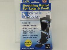 MIRACLE SOCKS Brand XL/L Black Compression Socks - $36 MSRP - 30% off