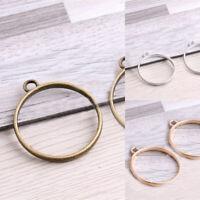 20pcs DIY Drop Alloy Open Back Bezel Pendants DIY Jewelry Making Accessories