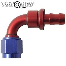 """AN -6 (6AN AN6) 90 Degree 8mm 5/16"""" Barb Push on Hose Fitting"""