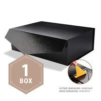 Large Gift Box Rectangular Wedding Bridesmaid Proposal Box  Collapsible Black
