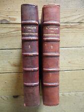 Correspondance de Paul Verlaine, tomes 1 et 2. Reliure.  Messein, 1923