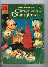 Dell Giant Comic Christmas In Disneyland #1 VG/F- 1957