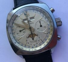 RARE VINTAGE SULTANA CHRONOGRAPH TRIPLE DATE MOONPHASE  MANUAL WIND VALJ 88