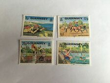 GUERNSEY 1981 MNH SG 245-8 DISABLED PERSONS YEAR RIDING SWIMMING SHOOTING