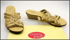 HOMY PED COMFORT WOMEN'S WEDGED HEEL SLIP ON SANDALS SHOES SIZE 7 WORN ONCE