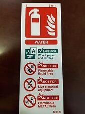 Signo de agua FIRE extinguiser 200mm X 75mm de plástico rígido