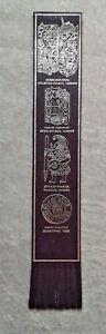 Purple Leather Viking York Bookmark - Modern
