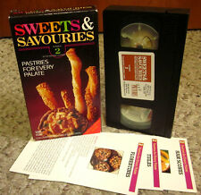 SWEETS & SAVOURIES cooking Pastries For Every Palate VHS w/ recipe cards