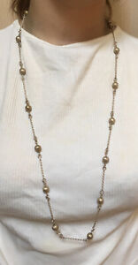 Authentic Vintage 1970s, Heavy, Solid 830 Fine Silver Dress Necklace Chain.