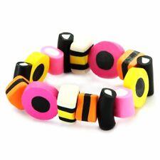 Funky Liquorice Allsort Elasticated Stretch Bracelet - Retro Sweets Joe Cool