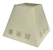 moderne 35.6cm Vague pochoir Lampe Plafonnier suspendue abat-jour de lampe crème