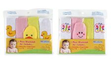 Little Mimos Baby Washcloth Finger Puppet Sets Butterfly Duck 10 Pieces