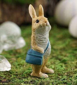 Little Messenger Rabbit Bunny TO 4617 Miniature Fairy Garden