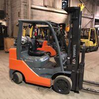 2014 Toyota 8FGCU30 6000lbs Used Forklift Triple Mast LP Gas Sideshift 6598 Hrs