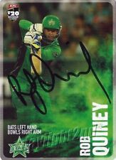 ✺Signed✺ 2014 2015 MELBOURNE STARS Cricket Card ROB QUINEY Big Bash League