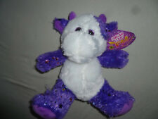 NEW W TAG WHITE PURPLE COW SPARKLE EYES  PLUSH SUGAR LOAF TOYS NWT STARS TOY >>>