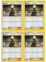 Pokemon Trainer Card - Cynthia 119/156 - Ultra Prism - 4 Supporter Lot
