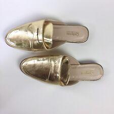 Catherine Malandrino- New Women Gold Mules, Slip On, Size 9
