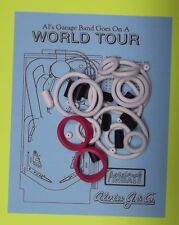 1992 Alvin G. Al's Garage Band Goes on a World Tour pinball rubber ring kit