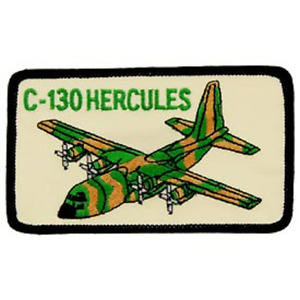 """UNITED STATES  AIR FORCE  """"C-130 HERCULES"""" PATCH   4"""" wide x 2"""" tall"""