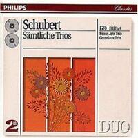 BEAUX ARTS TRIO/GRUMIAUX TRIO - SCHUBERT-SÄMTLICHE TRIOS 1-2 (GA) 2 CD NEW!