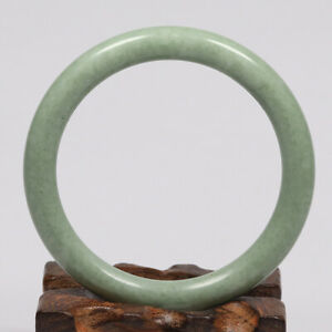 58mm Grade A 100% Natural Green Jade Bangle Bracelet Chinese Guizhou Jade K5302