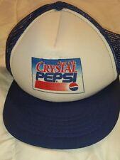 Vintage Crystal Pepsi Cap Hat Snapback New Truckers Cap Style