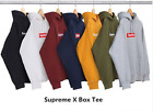 100% Authentic Supreme Box Logo Pullover Hoodie Pink Green Black White Gray Blue