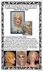Boudoir Bed Doll Replacement Mohair Wig Marcel Wave Bob Style INSTRUCTIONS ONLY