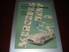 F1MERCEDES-BENZ POSTER LOCANDINA 18.INTERNATIONALE ADAC-EIFELLOB 1955 ORIGINALE