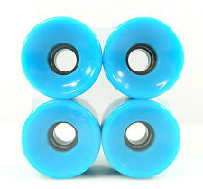 60mm x 44mm Cruiser Wheels Fit Longboard Plastic Board Skateboard Baby Blue