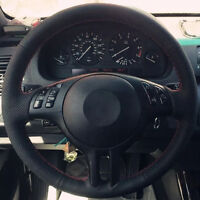 1piece Black Artificial Leather Steering Wheel Cover Wrap fit for BMW E46-325i
