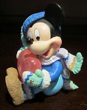 RARE Disney Enesco Mickey Mouse Winter Frozen Heart Porcelain Resin Figure