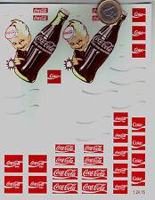 decals decalcomanie  decalque coca cola avec bouteille mascotte 1/24