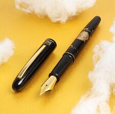 Japan Made Kuretake Urushi Maki-e Art OWL Iridium M Medium Nib Fountain Pen