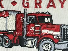 New ListingVintage Nos Machine Stitched Embroidered Patch - Jack Gray Transport Trucking