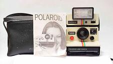 Polaroid 1000 Camera con polatronic 1 relámpago y bolso original revisado! n.1366