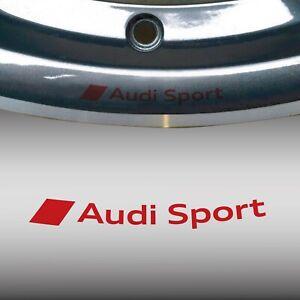 Sticker Wheels Audi Sport S Line Wheel Alloy A3 A4 A5 A6 Tt Q3 S-LINE A1 Red