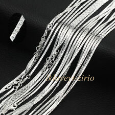 Wholesale Lots 925 Sterling Solid Silver Flat Anchor Link Chain Necklaces 16-28""