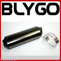 38mm GLOSSY Alloy Exhaust Muffler +Clamp 125cc 140cc 150cc PIT Trail Dirt Bike