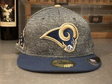 the latest b587d 13fd1 New Era 59Fifty Los Angeles Rams NFC Team Headwear Gray Hat Cap Mens Size 7
