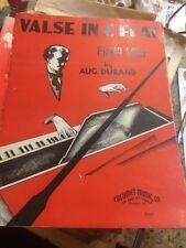 1935 VALSE IN E FLAT PIANO SOLO DURAND RARE ANTIQUE ORIGINAL SHEET MUSIC O231