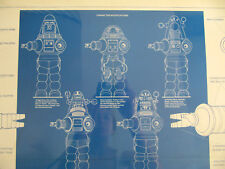 True Vintage 1978 Robby The Robot Blueprint Forbidden Planet Poster Sci-Fi 1970s