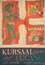 Original Plakat - Kursaal Lugano, Carigiet Alois