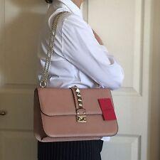 NWT Tan (not Pink) Valentino Rocklock Medium Shoulder Bag
