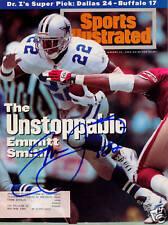 Emmitt Smith Dallas Cowboys SIGNED Sports Illustrated 1/31/94 COA!